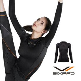シックスパッド トレーニングスーツ ロングスリーブトップ(WOMEN) 【メーカー公式店】 MTG sixpad 大胸筋 トレーニングウェア インナー
