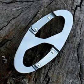 8の字 カラビナ シルバー アルミ 軽量 防水 耐摩 高強度 耐久 小型 キーホルダー 登山 トレッキング 釣り スポーツ アウトドア Mt.happy/マウントハッピー