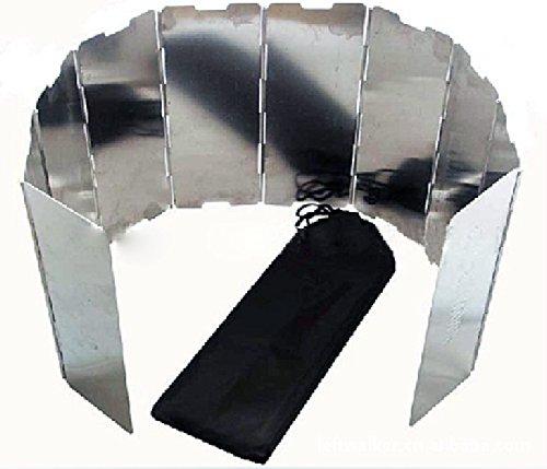 ウィンドスクリーン アルミ アルミニウム ウインドスクリーン 10枚板 風除け 風防 パネル 軽量 アウトドアストーブ アルコールストーブ クッキング キャンプ アウトドア【メール便のみ送料無料】 Mt.happy/マウントハッピー