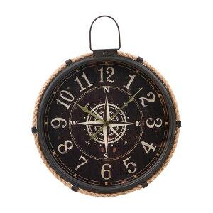 【20〜24時限定★P5倍】【メーカー直送】 不二貿易 掛時計 コンパス Φ47cm BLKR316-3 72701 KNS