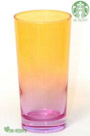 Starbucks スターバックスカラーグラス オレンジ&パープルサマー 420ml、ギフト包装☆スタバ/タンブラー/マグ/クリスマス/バレンタイン/ハロウィン