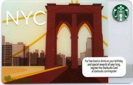 [送料無料]Starbucks スターバックスアメリカカード NewYork Brooklyn Bridge米国カード/送料無料/クリックポスト発送/海外限定品/日本未発売/スタバ/タンブラー/マグ/クリスマス/バレンタイン/ハロウィン