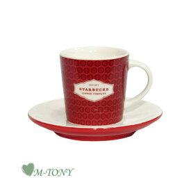 Starbucks スターバックスレッド デミカップ&ソーサー89ml/海外限定品/日本未発売/スタバ/タンブラー/マグ/クリスマス/バレンタイン/ハロウィン