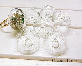 ◆メール便不可◆ネコポス対応◆ガラスドームハーフラウンド2.0cm[oth-bin-088]