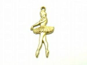 バレリーナ[bra-g-041] 【ブラス・真鍮・チャーム・UVレジン・パーツ】