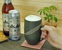 産地直送 なんと、ビールの容量700ml 泡も細かくクリーミー に! 信楽焼 陶器製 黒釉砂流し尻丸ビアジョッキ (tgi)(ビアマグ、ビアカップ、おしゃれなマ...