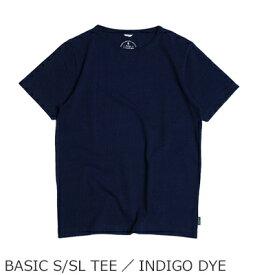 ゴーヘンプ GOHEMP ベーシックTシャツ インディゴ ダイ BASIC S/SL TEE/INDIGO DYE Tシャツ 購入金額別特典あり 正規品 オーガニック 無添加 送料無料 ヘンプ オーガニックコットン 麻 半袖 天然 ナチュラル 藍染め