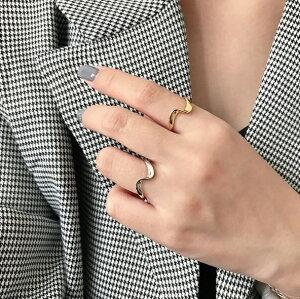指輪 レディース シルバー 925 silver925 シルバーリング silver ウェーブリング デザインリング 人気 大人可愛い オトナ女子 シルバーアクセ 韓国 韓国ファッション アクセサリー シンプル ゴー