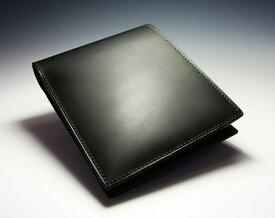 コードバン 財布 二つ折り カノヤマ製 コードバン×バッファローカーフ  素上げ ナチュラル 純札