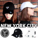 【C.E.Y正規品】 NEW YORK CITY ベースボールキャップ NYC レディース メンズ 帽子ローキャップ シンプル 男女兼用 無地 ユニセックス ゴルフ フリーサイズ 野球帽 送料無料