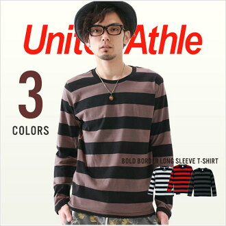 United Athle athle bold border long sleeve T shirt S M L 2P13oct13_b