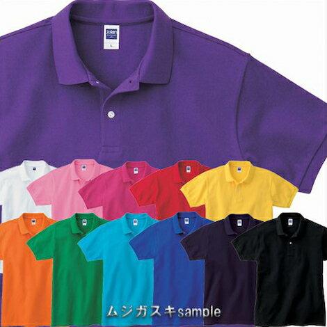 【メール便(ネコポス)可】Jellan 上質の綿100%メンズ コットン鹿の子ポロシャツ S-XL/男女兼用/メンズ/レディース/白/赤/青/緑/黒/黄色/イエロー/茶色/水色/ピンク/オレンジ/紺/紫【1400212】