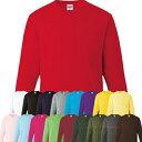 厚手長袖Printstar 6.6ozハイグレードロングTシャツXS-XL/白/赤/青/黒/緑/黄色/イエロー/グレー/ピンク/茶色/紺/水色/…