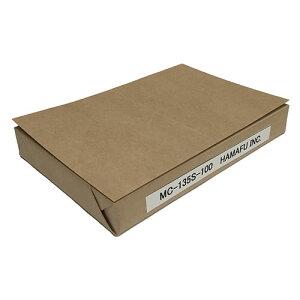 NO.MC135S100 クラフト紙サンクスカード(二つ折り可)(100mm x 148mm) 【100枚】 DMやサンクスカードに最適! /15時まで あす楽対応(土日祝祭日不可)