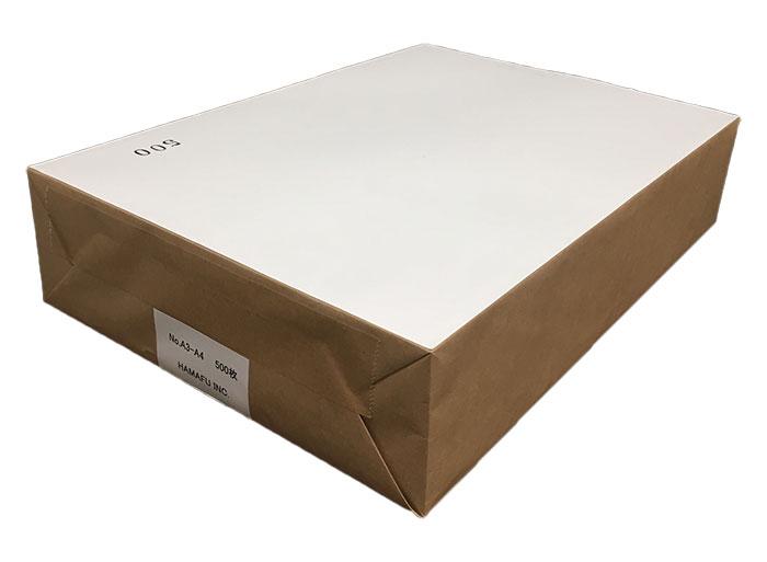 NO.A3A4 A3マイクロミシン目2分割加工紙 国産上質135kg 500枚  /15時まで あす楽対応(土日祝祭日不可)