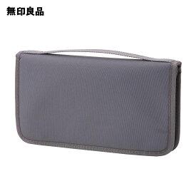 【無印良品 公式】ポリエステルパスポートケース・クリアポケット付 グレー・約23.5×13×2.5c