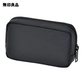 【無印良品 公式】ナイロンコンパクトポーチ黒・約9×14×3.5cm