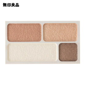 【無印良品 公式】アイカラー4色タイプ・ゴールドブラウン 4.5g