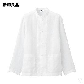 【無印良品 公式】フレンチリネン洗いざらし結び釦シャツ (男女兼用)