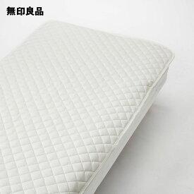 【無印良品 公式】ポリエステルわたベッドパッド・ゴム付/シングル 100×200cm