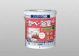 アトムハウスペイント(塗料/ペンキ/ペイント)水性かべ・浴室用塗料1.6L ラベンダーホワイト