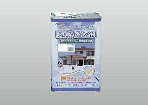 【送料無料】アトムハウスペイント(塗料/ペンキ/ペイント)凹凸外かべ用塗料 14Lミルキーホワイト