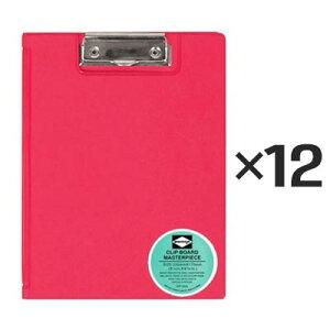 【12個セット】ペンコ 二つ折り クリップボード A5 ピンク DP058 クリップホルダー クリップ バインダー おしゃれ タテ 縦 ファイル 折りたたみ HIGHTIDE ハイタイド