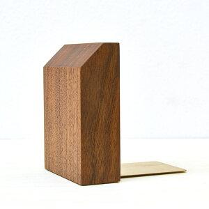 木製 ブックエンド ウォールナット WN-4 左右セット