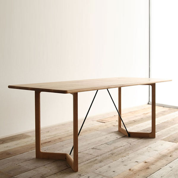 SICURO 節ありオーク ダイニングテーブル 154 シクロ アサヒ テーブル 北欧 モダン ダイニング リビング 木製 オーク 無垢 4人 4人用 4人掛け 家族 おしゃれ