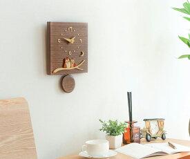 旭川クラフト 工房 ペッカー F10 ウォールナット振り子時計