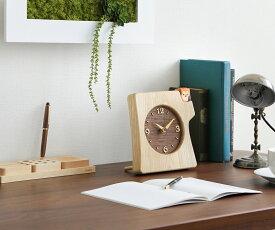 【時計 置き型 木製】旭川クラフト 工房ペッカー KK-1 切株掛け置き時計