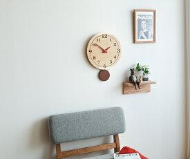 【時計 壁掛け 木製】旭川クラフト 工房 ペッカー F38 丸型振り子時計
