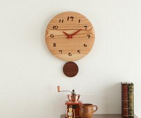【時計 壁掛け 木製】旭川クラフト 工房 ペッカー F35-2,F36 丸型振り子時計