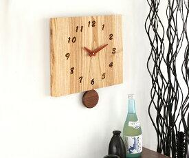 【時計 壁掛け 木製】旭川クラフト 工房 ペッカー F12 耳付き振り子時計