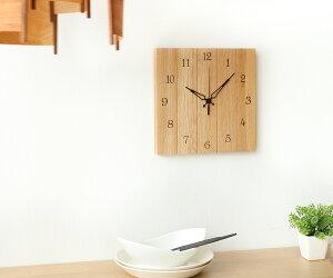 旭川クラフト ササキ工芸 壁掛け時計 スクエア