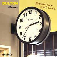 時計ダルトンダブルフェイスウォールクロック壁付けDoublefacewallclockブラックあす楽在庫インテリアおしゃれ壁掛け