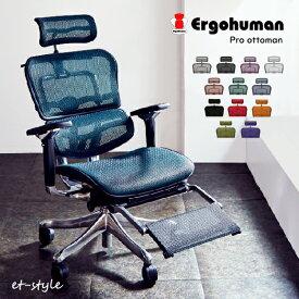 【通常在庫品/P10倍】エルゴヒューマン プロ オットマン内蔵 ハイタイプ EHP-LPL ハイバック Ergohumn Pro パーソナルチェア