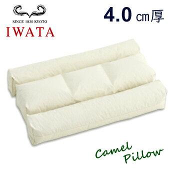布団のイワタ IWATA キャメルピロー【4.0センチ厚】 枕 ふとん ベッド 京都
