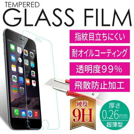 【9H 強化ガラスフィルム】スマホを守る スマートフォン 保護 さらさらガラスフィルム 高耐久 iPhone X iphone7 iPhone7plus iphone6s iphone6 SC-04F SCL23 SC-04G SCV31 SHV31 SH-01F SH-02G SOV XZ1(携帯電話用アクセサリー 液晶保護フィルム)