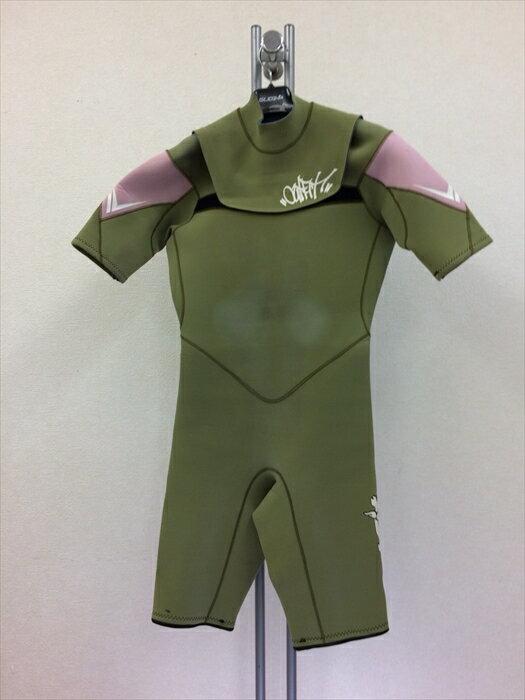 中古ウエットスーツ/フラップジップ半袖スプリング/メンズML