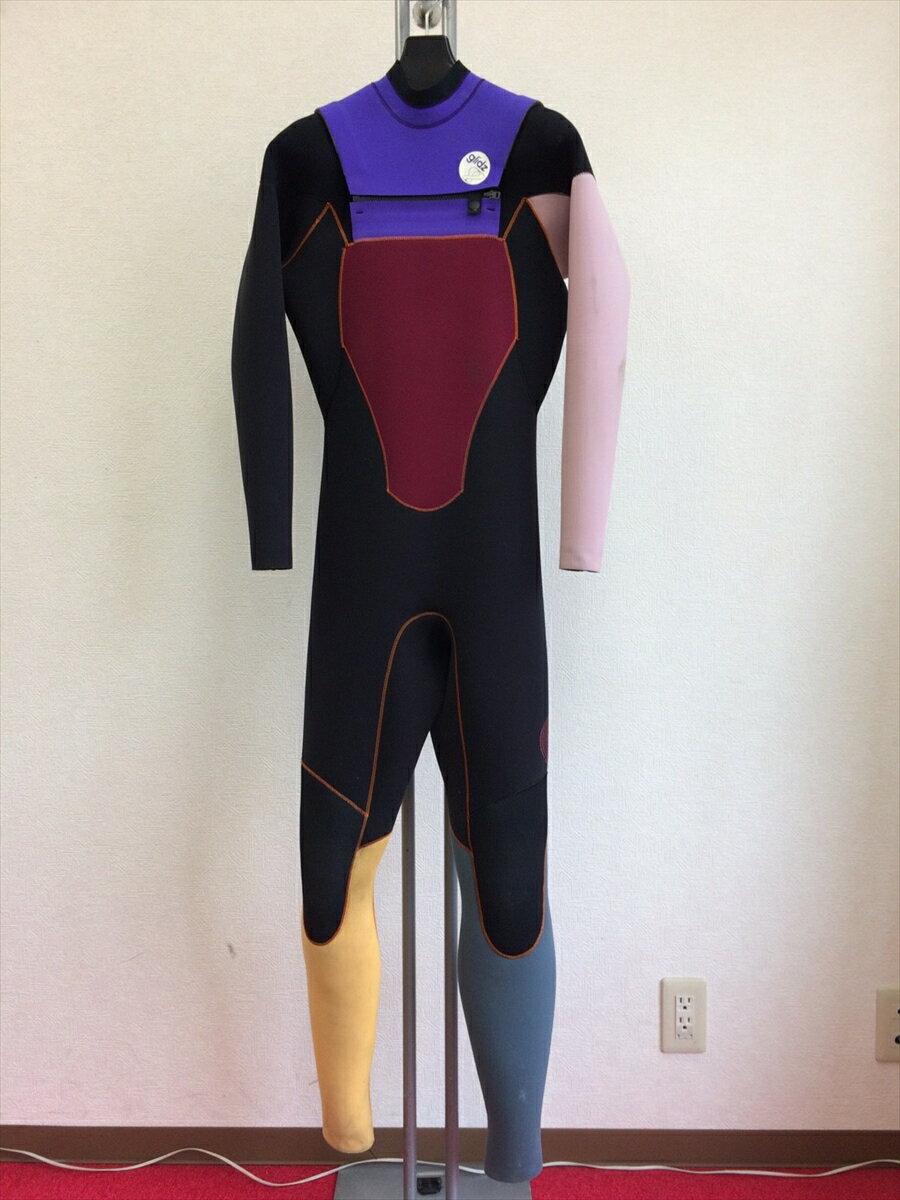 中古ウエットスーツ/フラップジップ・フルスーツ/サイズ《メンズML》/グライズウェットスーツ/サーフィン