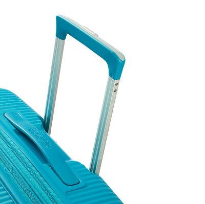 アメリカンツーリスターサムソナイトスーツケースキャリーバッグSOUNDBOXサウンドボックスMサイズスピナー67無料預入受託サイズエキスパンダブル容量拡張機能4輪ダブルキャスターキャリーケース