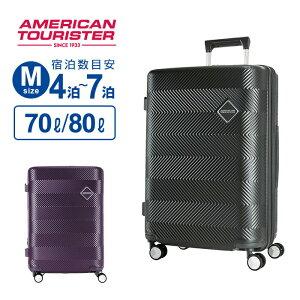 11%OFFクーポン配布中!スーツケース Mサイズ アメリカンツーリスター サムソナイト GROOVISTA グルービスタ スピナー67 Mサイズ ハードケース 容量拡張 158cm以内 超軽量 キャリーケース キャリー