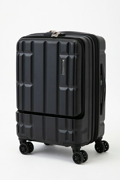 ブラックスーツケースキャリーバッグマルチバースフロントオープンMVFP51機内持ち込みフロントポケット