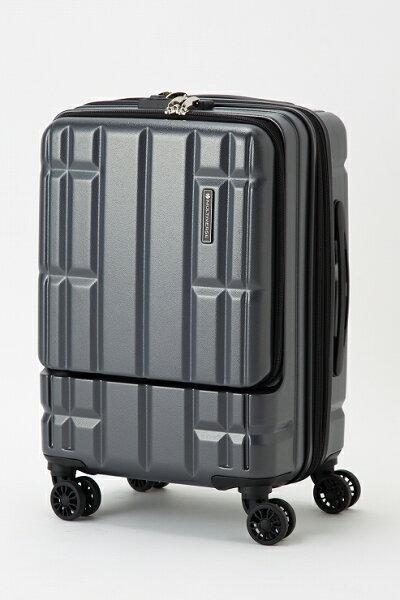 マットグラファイトスーツケースキャリーバッグマルチバースフロントオープンMVFP51機内持ち込みフロントポケット