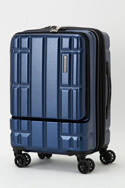 ネイビースーツケースキャリーバッグマルチバースフロントオープンMVFP51機内持ち込みフロントポケット