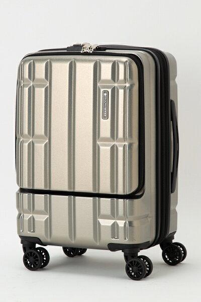 シルバースーツケースキャリーバッグマルチバースフロントオープンMVFP51機内持ち込みフロントポケット