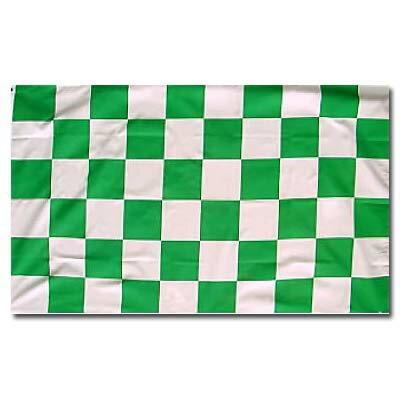 【サポーター必見】グリーン x ホワイト チェッカーフラッグ【サッカー/Jリーグ/応援グッズ】お取り寄せ可能◆ネコポス対応可能◆