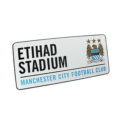 """マンチェスターシティ ストリートサイン""""ETIHAD STADIUM""""【プレミアリーグ/サッカー/Manchester City/インテリア】"""