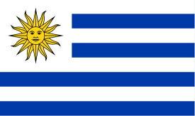 【サポーター必見】ウルグアイ国旗 フラッグ【サッカー/フォルラン/ウルグアイ代表/応援グッズ/Uruguay/ワールドカップ/World Cup】ネコポス対応可能